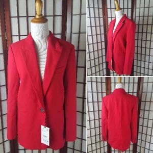 NWT RED ZARA BLAZER